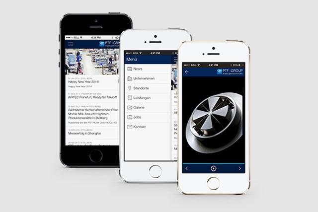 Repräsentative App für PTF