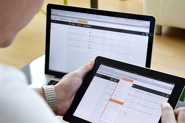 Web-App von der man auf jedes Gerät zugreifen kann