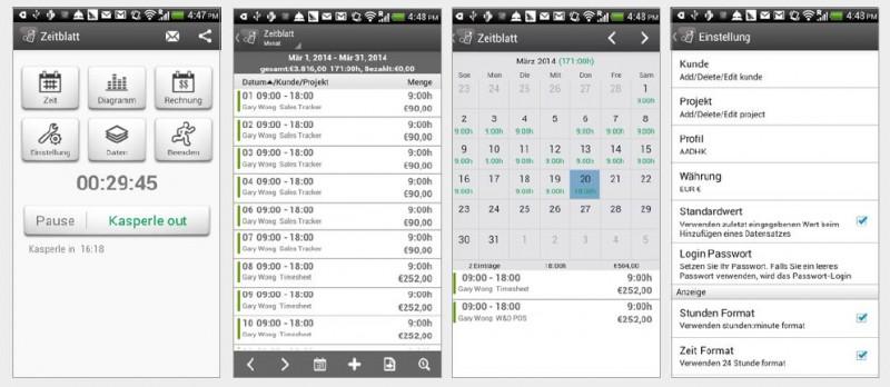 Arbeitszeit erfassen mit einer App