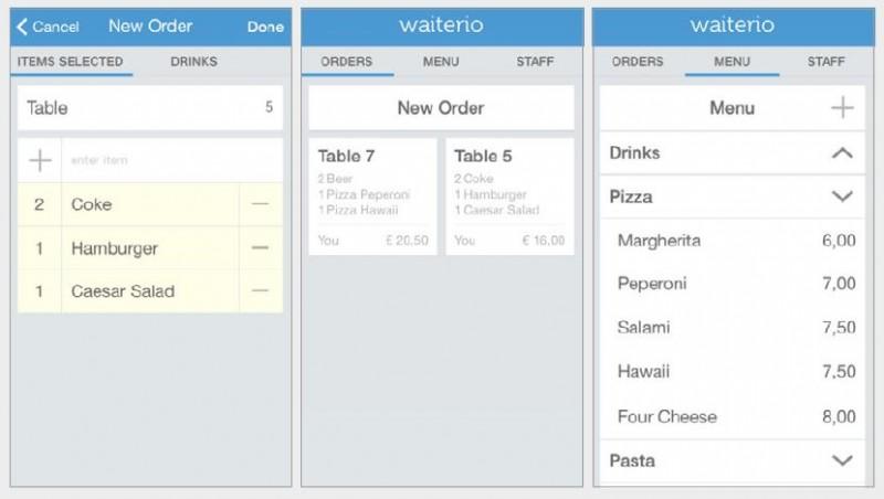 Bestellungen per App und Smartphone im Restaurant aufnehmen