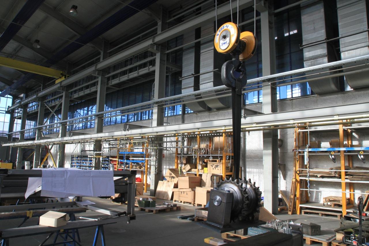 Eine Produktionshalle in Thüringen