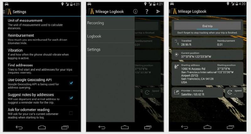 Fahrtenbuch führen per GPS-App