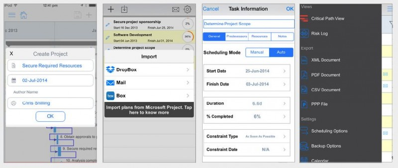 Projektmanagement mit einer App