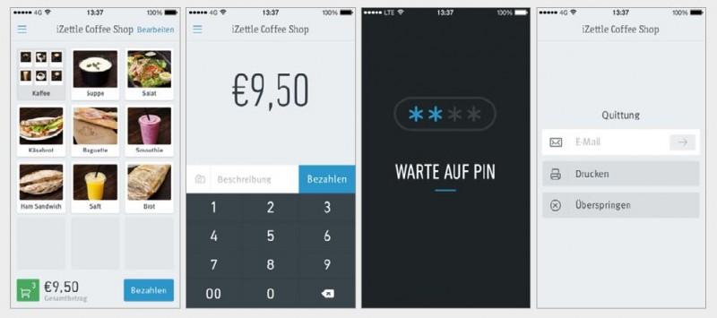 Eine App für mobiles Payment: iZettle