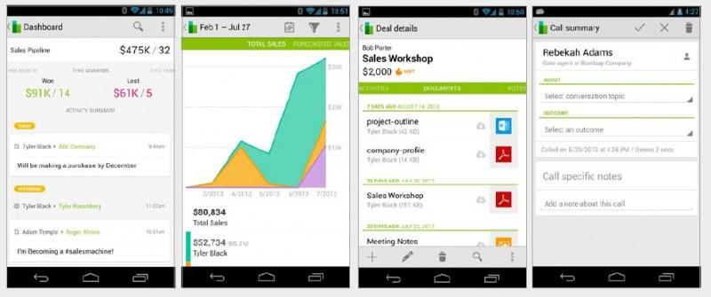 CRM-App von Base zum Tracken von Sales