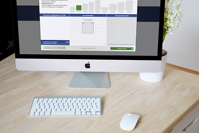 Mobiler Produktkonfigurator für Gartenhäuser