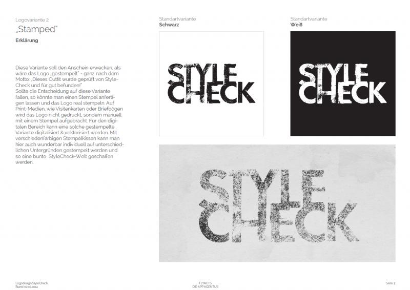 Dies ist die zweite Designvariante für die StyleCheck GmbH