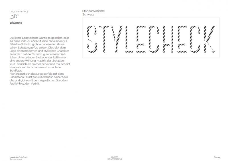 Dies ist die dritte Designvariante für die StyleCheck GmbH