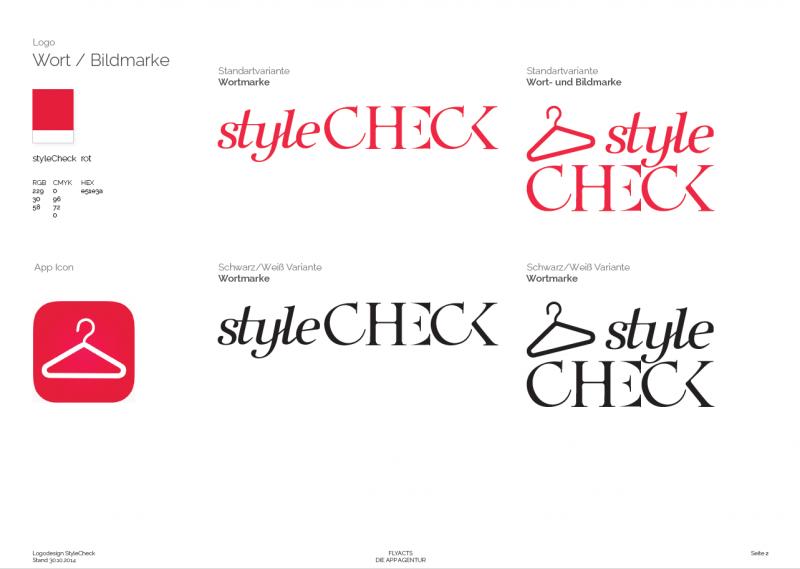 Dies ist die vierte Designvariante für die StyleCheck GmbH