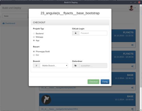 Ein Projekt wird von GitLab heruntergeladen und konfiguriert.
