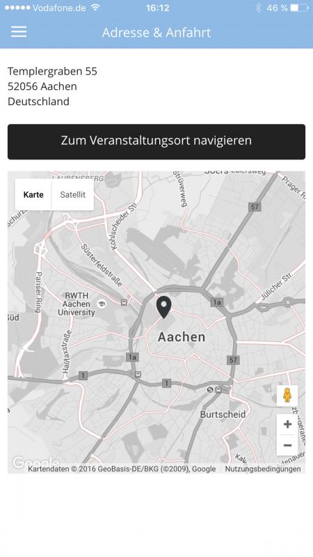 Karte und Routenplanung