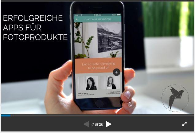 Präsentation über erfolgreiche Apps für Fotoprosukte