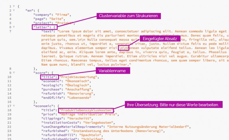 JSON-Sprachdateien für das App-Projekt anpassen – so geht's
