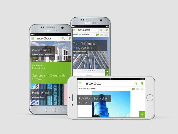 Praxisbeispiele Vertriebsapps: Referenz-App von Schüco