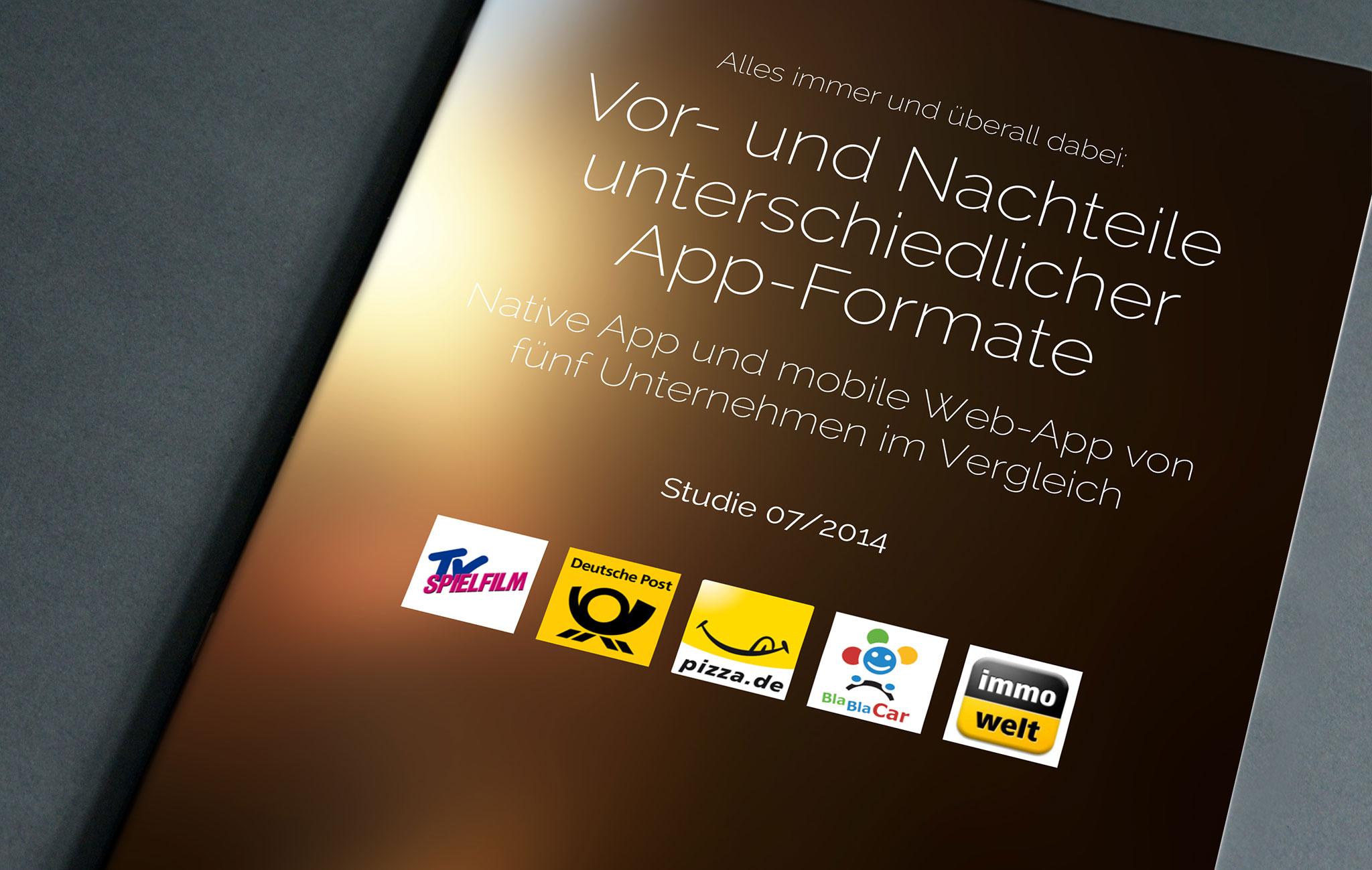 Unterschiedliche App Formate Deckblatt