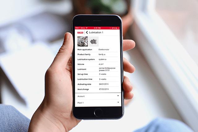 Smarte Maschinenwartung per App gesteuert