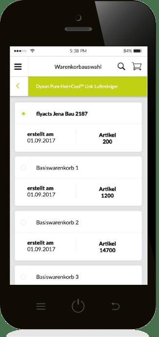 Ref Web Bico Slider Warenkorbliste