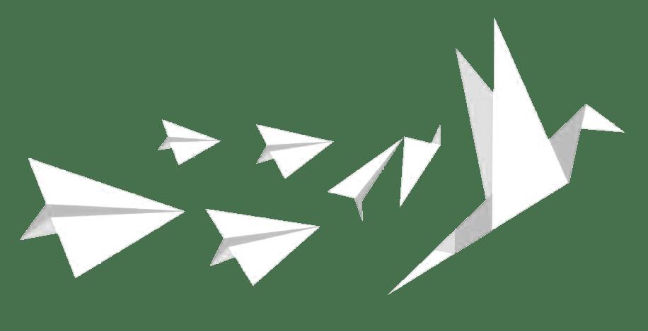 Papierflieger Vogel